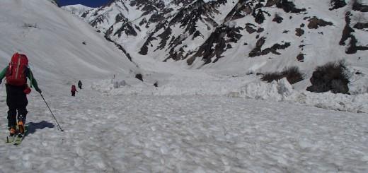 1大雪渓のデブリ
